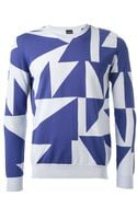 Paul Smith Geometric Print Sweater - Lyst