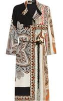 Etro Printed Silk Shirt Dress - Lyst