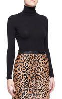 Ralph Lauren Black Label Long Sleeve Cashmere Silk Turtleneck - Lyst