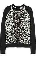 A.L.C. Moore Leopardprint Stretchknit Sweater - Lyst