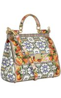 Dolce & Gabbana Medium Sicily Orange Print Tote - Lyst