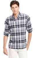 Tommy Hilfiger Custom Fit Madras Shirt - Lyst