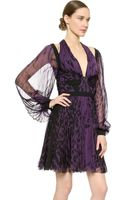 J. Mendel Long Sleeve Pleated Dress  - Lyst