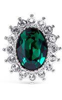 Kenneth Jay Lane Emerald Crystal Ring - Lyst