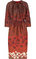 Mother Of Pearl Juliann Printed Wool and Silkblend Dress - Lyst