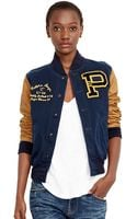 Polo Ralph Lauren Leather-sleeved Varsity Jacket - Lyst