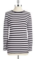 Michael by Michael Kors Striped Pullover - Lyst