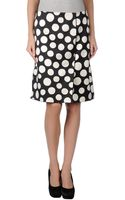 Celine Knee Length Skirt - Lyst