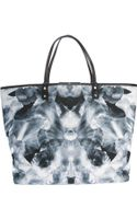 McQ by Alexander McQueen Butterfly Print Shopper Tote - Lyst