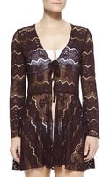 Letarte Long-sleeve Hawaiian Coverup - Bordeaux - Lyst