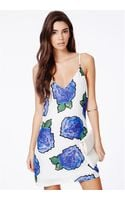 Missguided Sharla Rose Print Cami Dress - Lyst