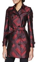 Burberry London Check Silk Modern-fit Trench Coat - Lyst