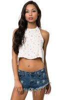 Somedays Lovin The Drop Out Halter Top - Lyst