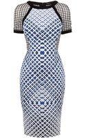 Karen Millen Check Print Dress - Lyst