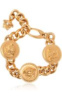 Versace Gold Plated Medusa Bracelet - Lyst