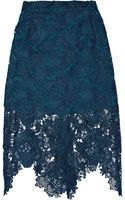 House Of Holland Embroidered Lace Pencil Skirt - Lyst