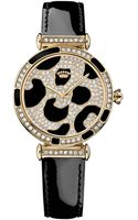Juicy Couture Womens J Couture Black Patent Leather Strap Watch 34mm - Lyst