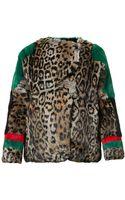 Preen Line Sky Printed Fur Jacket - Lyst