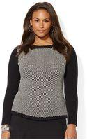 Lauren by Ralph Lauren Plus Birdseye Boatneck Sweater - Lyst
