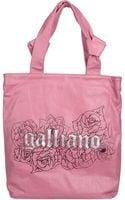 John Galliano Large Leather Bag - Lyst