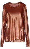 Balenciaga Long Sleeved Top - Lyst