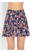 Forever 21 Feeling Floral Skater Skirt - Lyst