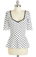 Rock Steady/steady Clothing In Giddy City Top in Polka Dots - Lyst