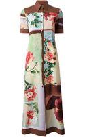 Jean Paul Gaultier Nature Print Shirt Dress - Lyst