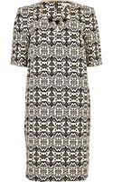 River Island Black and White Print Shift Dress - Lyst