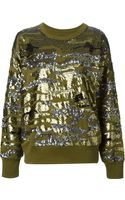 Isabel Marant Sequin Embellished Sweater - Lyst