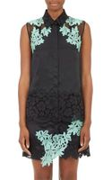 3.1 Phillip Lim Lace-embellished Satin Blouse - Lyst