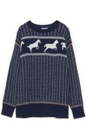 Band Of Outsiders Fair Isle Horses Sweater - Lyst