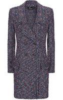 St. John Sparkle Tweed Topper Coat - Lyst