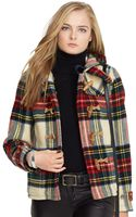 Polo Ralph Lauren Plaid Wool Duffle Coat - Lyst