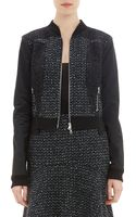 Nina Ricci Lace Appliqué Tweed Bomber Jacket - Lyst