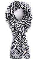 Armor Lux Norwegian Jacquard Navy and Ecru Scarf - Lyst