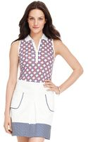 Tommy Hilfiger Vintage Print Sleeveless Polo - Lyst