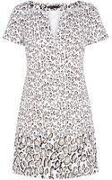Karen Millen Leopard Print Tshirt Dress - Lyst
