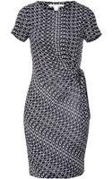 Diane Von Furstenberg Silk Chain Ribbons Dress - Lyst