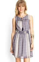 Forever 21 Floral Tie Front Dress - Lyst
