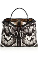 Fendi Peekaboo Calf Hair Satchel - Lyst
