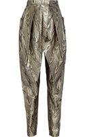 Balmain Metallic Jacquard Tapered Pants - Lyst