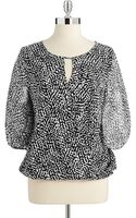 Vince Camuto Animal Print Blouse - Lyst