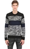 Dolce & Gabbana Knitted Stripes Wool Sweater - Lyst