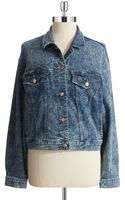 Dittos Acid Wash Denim Jacket - Lyst