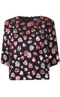 MSGM Metallic Tshirt - Lyst