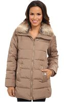 Michael by Michael Kors Belted Club Collar W Faux Fur - Lyst