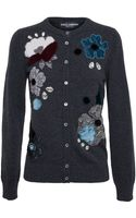Dolce & Gabbana Cashmere and Crystal Cardigan - Lyst