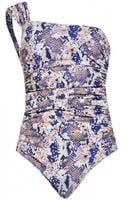 Matthew Williamson Blossom Snake Print Swimsuit - Lyst