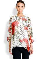Dolce & Gabbana Chiffon Polka-dot Blouse - Lyst